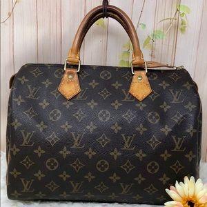 Authentic Louis Vuitton Monogram Speedy30 Satchel